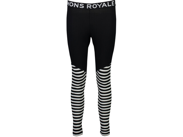 Mons Royale Christy Leggings Dame black/thick stripe